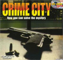 Box cover for Crime City on the Microsoft DOS.