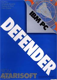 Box cover for Defender on the Microsoft DOS.