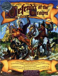 Box cover for Defender of the Crown on the Microsoft DOS.