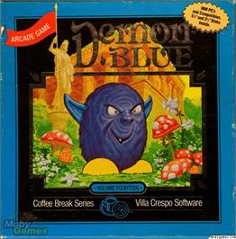 Box cover for Demon Blue on the Microsoft DOS.