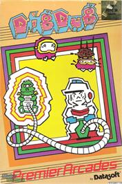 Box cover for Dig Dug on the Microsoft DOS.