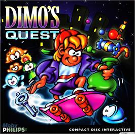 Box cover for Dimo's Quest on the Microsoft DOS.