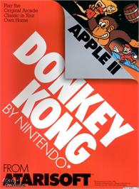 Box cover for Donkey Kong on the Microsoft DOS.