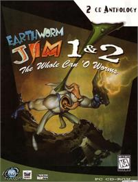 Box cover for Earthworm Jim 2 on the Microsoft DOS.