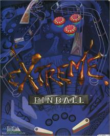 Box cover for Extreme Pinball on the Microsoft DOS.