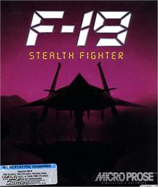 Box cover for F-19 Stealth Fighter on the Microsoft DOS.