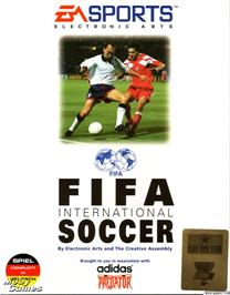 Box cover for FIFA International Soccer on the Microsoft DOS.