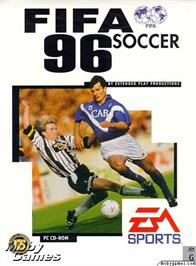 Box cover for FIFA Soccer 96 on the Microsoft DOS.