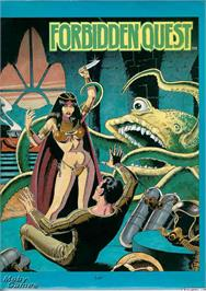 Box cover for Forbidden Quest on the Microsoft DOS.