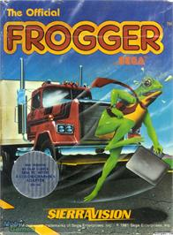 Box cover for Frogger on the Microsoft DOS.