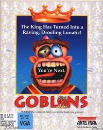 Box cover for Gobliiins on the Microsoft DOS.