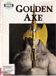 Box cover for Golden Axe on the Microsoft DOS.