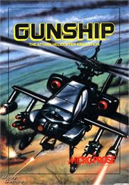 Box cover for Gunship on the Microsoft DOS.