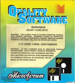 Box cover for Hangman on the Microsoft DOS.