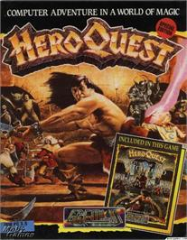 Box cover for Hero Quest on the Microsoft DOS.
