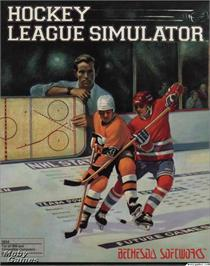 Box cover for Hockey League Simulator on the Microsoft DOS.
