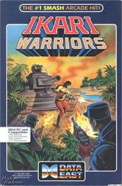 Box cover for Ikari Warriors on the Microsoft DOS.