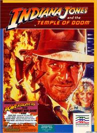 Box cover for Indiana Jones and the Temple of Doom on the Microsoft DOS.