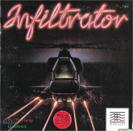 Box cover for Infiltrator on the Microsoft DOS.