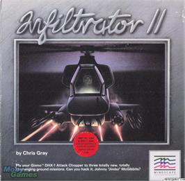 Box cover for Infiltrator II on the Microsoft DOS.