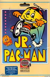 Box cover for Jr. Pac-Man on the Microsoft DOS.