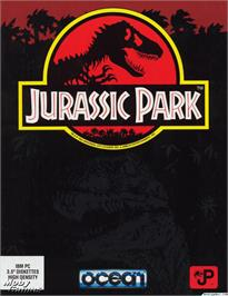 Box cover for Jurassic Park on the Microsoft DOS.
