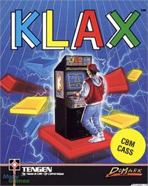 Box cover for Klax on the Microsoft DOS.
