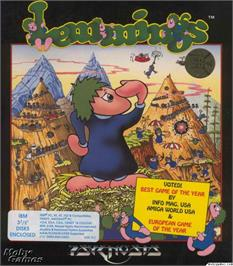 Box cover for Lemmings on the Microsoft DOS.
