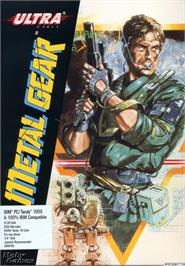 Box cover for Metal Gear on the Microsoft DOS.