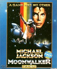 Box cover for Moonwalker on the Microsoft DOS.