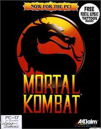 Box cover for Mortal Kombat on the Microsoft DOS.