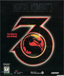 Box cover for Mortal Kombat 3 on the Microsoft DOS.