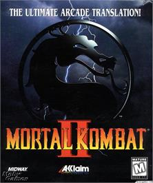 Box cover for Mortal Kombat II on the Microsoft DOS.