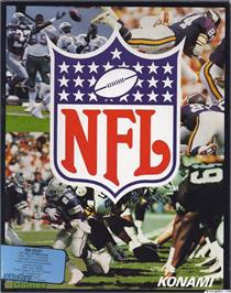 Box cover for NFL Football on the Microsoft DOS.