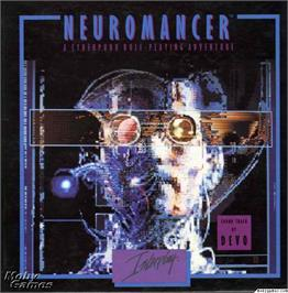 Box cover for Neuromancer on the Microsoft DOS.