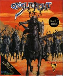 Box cover for Onslaught on the Microsoft DOS.