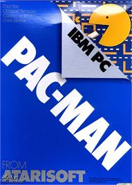 Box cover for Pac Man on the Microsoft DOS.