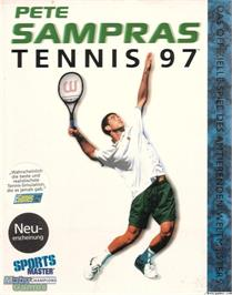 Box cover for Pete Sampras Tennis 97 on the Microsoft DOS.