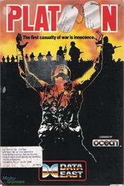 Box cover for Platoon on the Microsoft DOS.