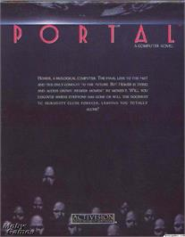 Box cover for Portal on the Microsoft DOS.