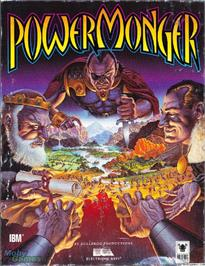 Box cover for PowerMonger on the Microsoft DOS.