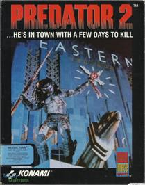 Box cover for Predator 2 on the Microsoft DOS.