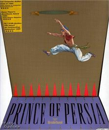 Box cover for Prince of Persia on the Microsoft DOS.