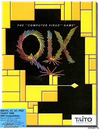 Box cover for QIX on the Microsoft DOS.