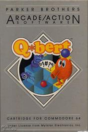 Box cover for Qbert on the Microsoft DOS.
