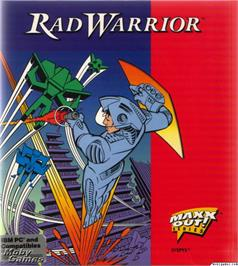 Box cover for Rad Warrior on the Microsoft DOS.