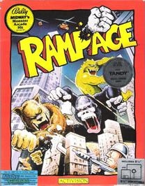 Box cover for Rampage on the Microsoft DOS.