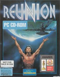 Box cover for Reunion on the Microsoft DOS.