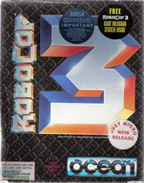 Box cover for RoboCop 3 on the Microsoft DOS.