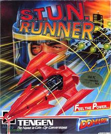 Box cover for S.T.U.N. Runner on the Microsoft DOS.